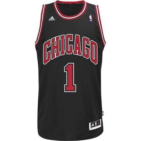 Adidas Chicago Bulls Black Swingman Jersey - Derrick Rose  a628584a1