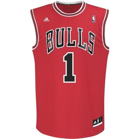 efd02e38d Adidas Chicago Bulls Red Replica Jersey - Derrick Rose number 1 ...