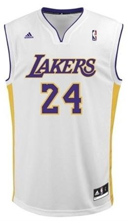 Adidas Kobe Bryant LA Lakers White Replica NBA Jersey  09073349f